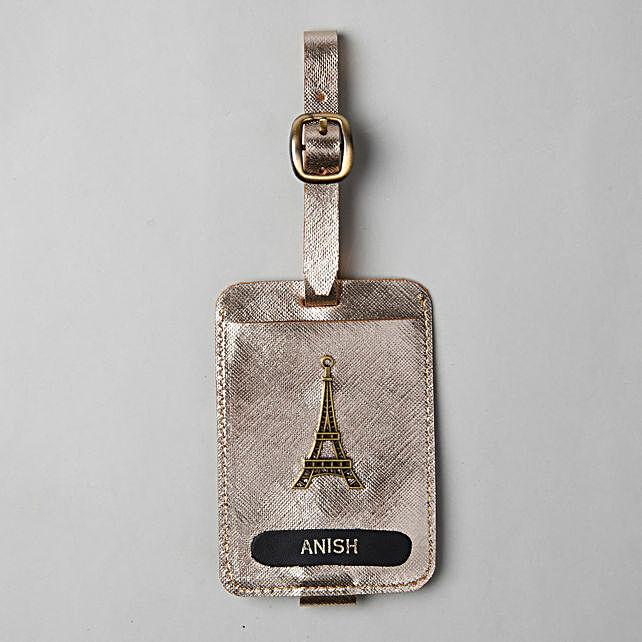 Personalised Metallic Gold Luggage Tag