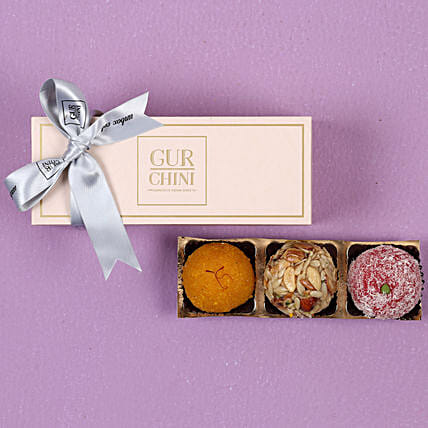 Assorted Laddu In Pink Box 250 gms