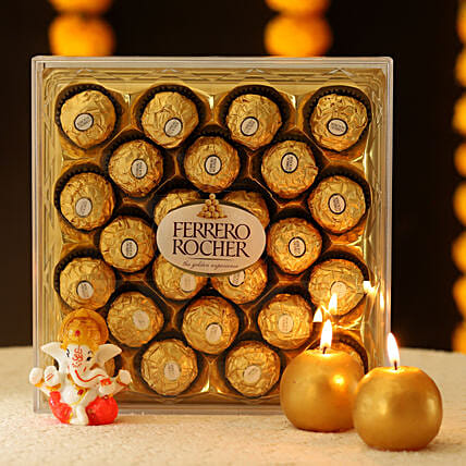 online chocolates with candle online