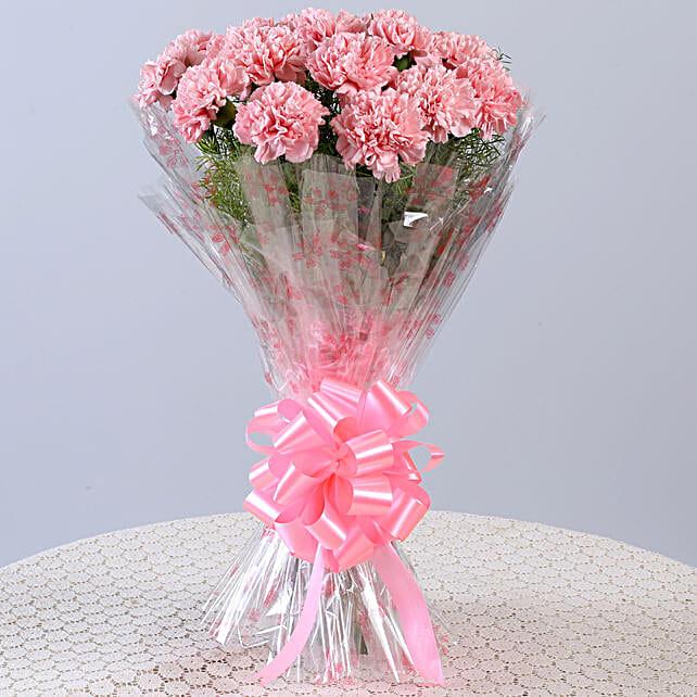 Unending Love 18 Light Pink Carnations Bouquet