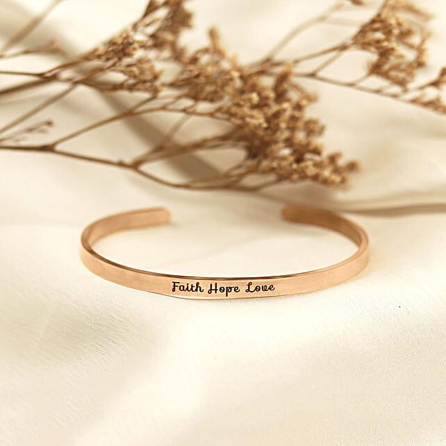 Faith Hope Love Rose Gold Band