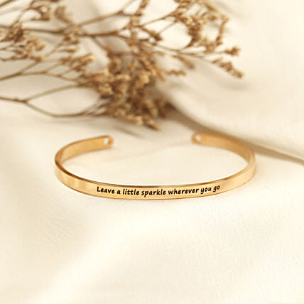 Leave A Little Sparkle Rose Gold Band