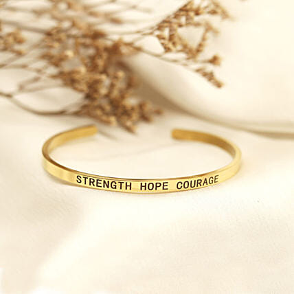 Strength Hope Courage Gold Band