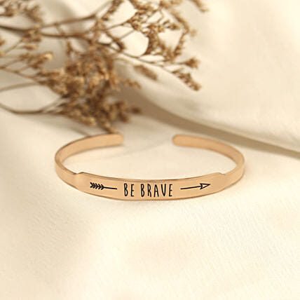 Be Brave Rose Gold Band