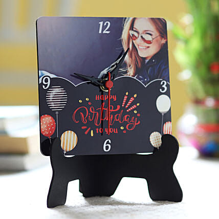 Online Personalised Birthday Wishes Table Clock