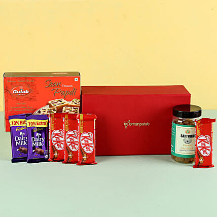 dry fruits with chocolates for her