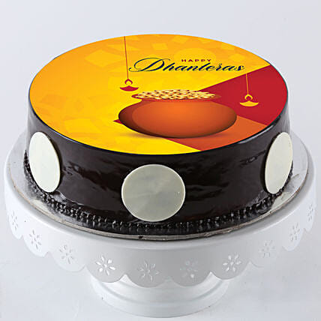Dhanteras Chocolate Photo Cake- Half Kg