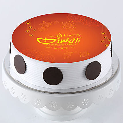 Diwali Special Pineapple Photo Cake- 1 Kg Eggless