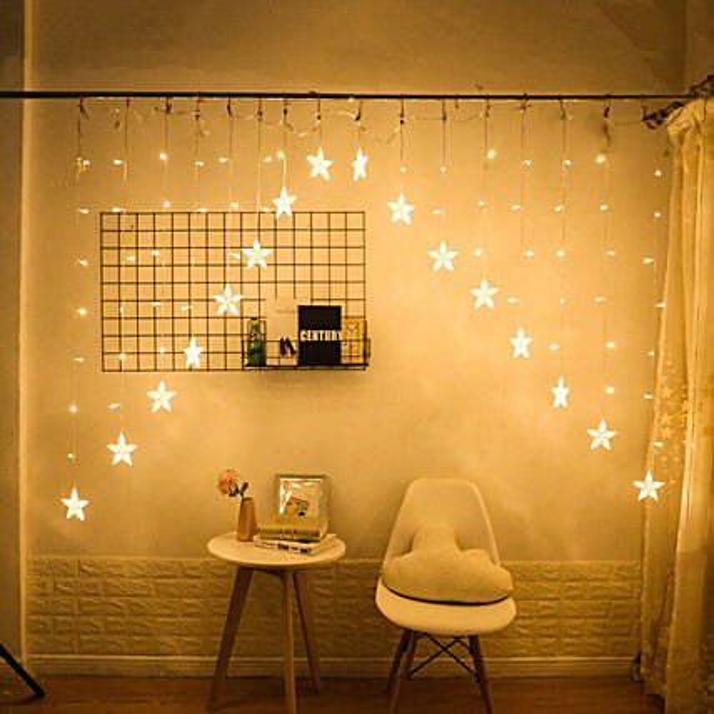 Star Curtain Lights String