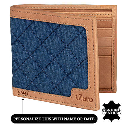 Men Bi Fold Blue Chestnut Wallet