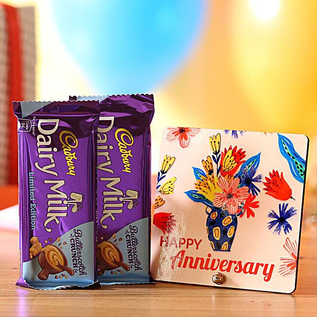Anniversary Wishes Dairy Milk Butterscotch Chocolates