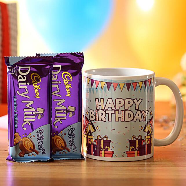 Birthday Wishes Mug & Dairy Butterscotch