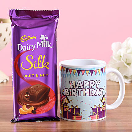 Printed Mug and Chocolate for Birthday Online