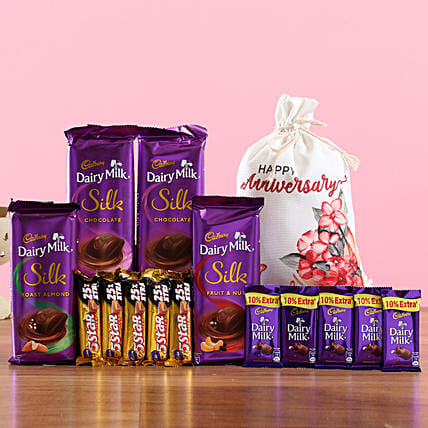 Chocolate Hamper with Gunny Bag Online