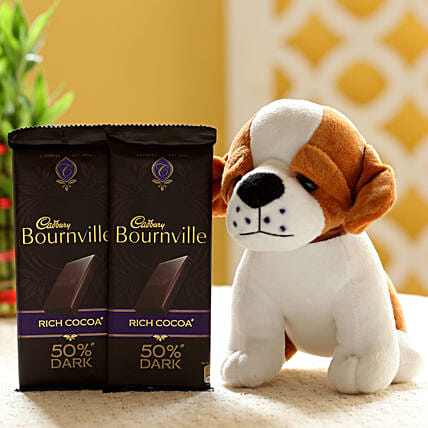 Adorable Dog Soft Toy Bournville