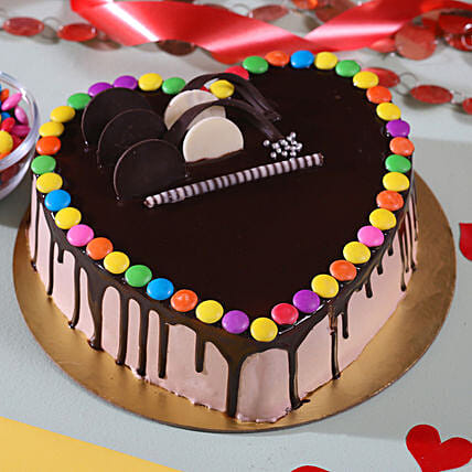 Hearty Gems Chocolate Cake 1 Kg Eggless