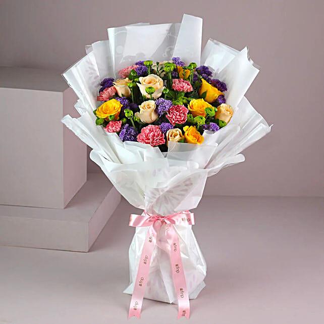 Buy Online Flamboyant Rose Bouquet