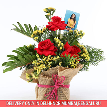 exclusive personalised flower bouquet for her