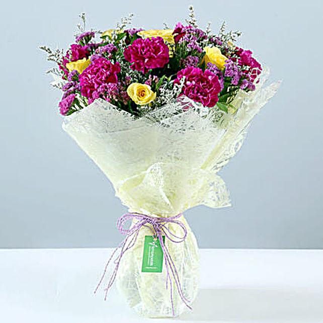 Send Online Purple & Yellow Rose Bouquet