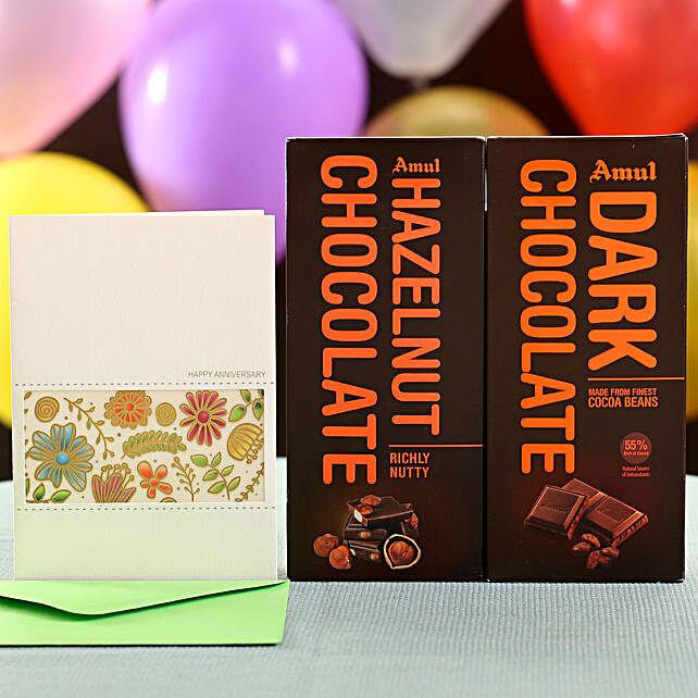 Dark Hazelnut Chocolates Greetings
