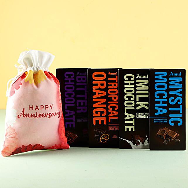 Flavorful Amul Chocolates Anniversary Wishes