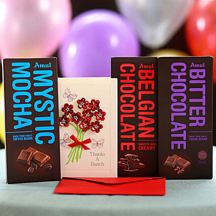 Greetings With Amul Chocolate