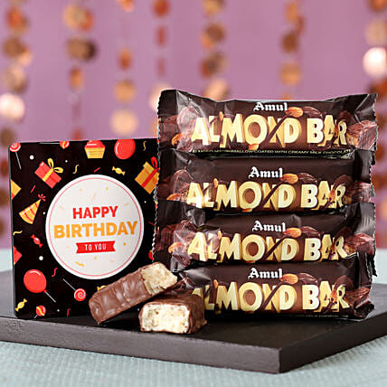 Online Birthday Wishes with Chocolates Bar