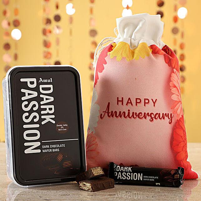 Online Amul Dark Choco Anniversary Wishes:Gifts To Rewa