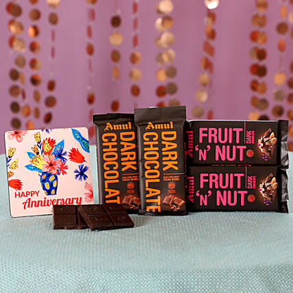 Anniversary Wishes Flavourful Amul Chocolates