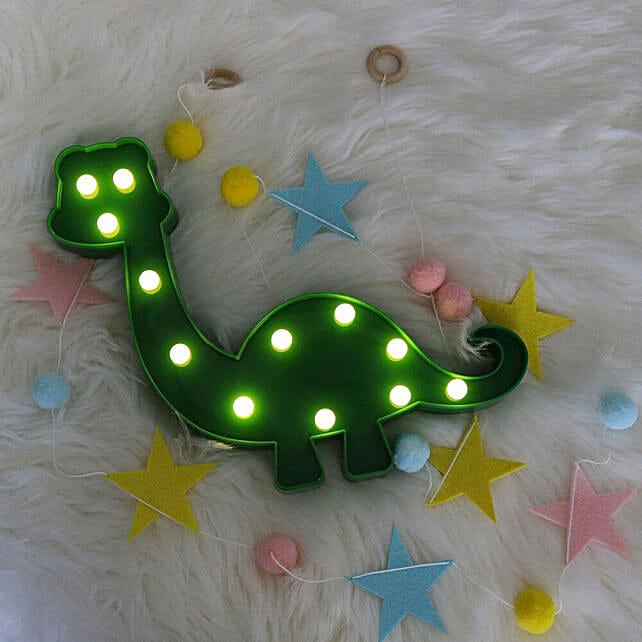 Green Dinosaur LED Lamp
