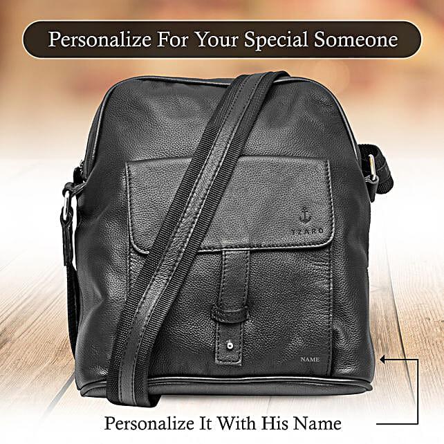 Personalised Black Sling Bag