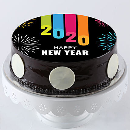 Colourful Chocolate Cake for New Year