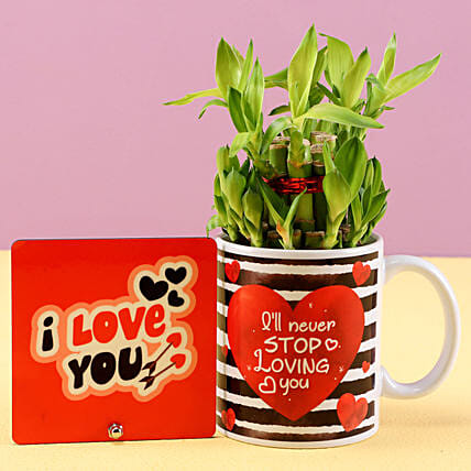 Lucky Bamboo Love You Combo