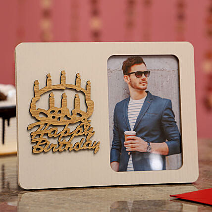 Personalised Birthday Wishes Photo Frame For Him