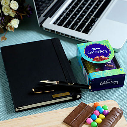 Online Personalised Notebook and Chocolate Combo:Gift Combos
