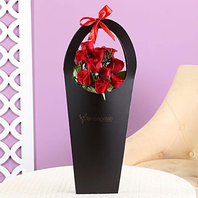 roses in sleeve bag
