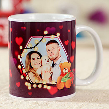 Glittering White Personalised Mug