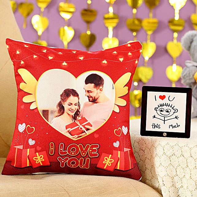 I Love You Cushion Table Top Combo