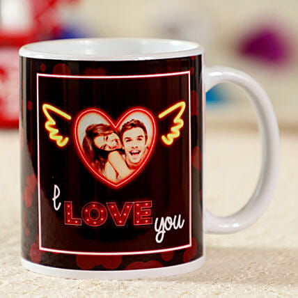 I Love You White Personalised Mug