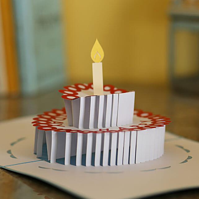 Online Birthday Cake Pop Up Card