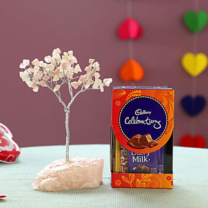 online decor wishing tree with cadbury celebration for her