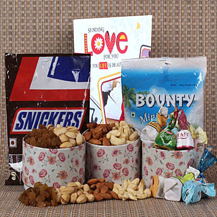 dryfruit n chocolate combo online for valentine's day