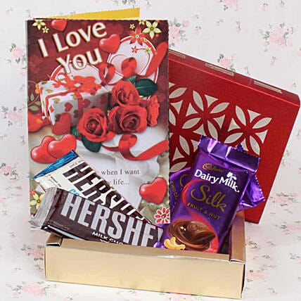 valentine special chocolate hamper online for her