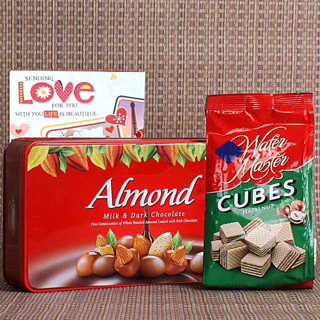 almond choco n wafers online