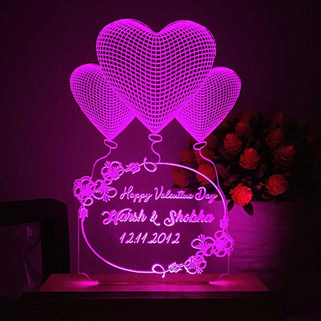 heart shape led night lamp for her