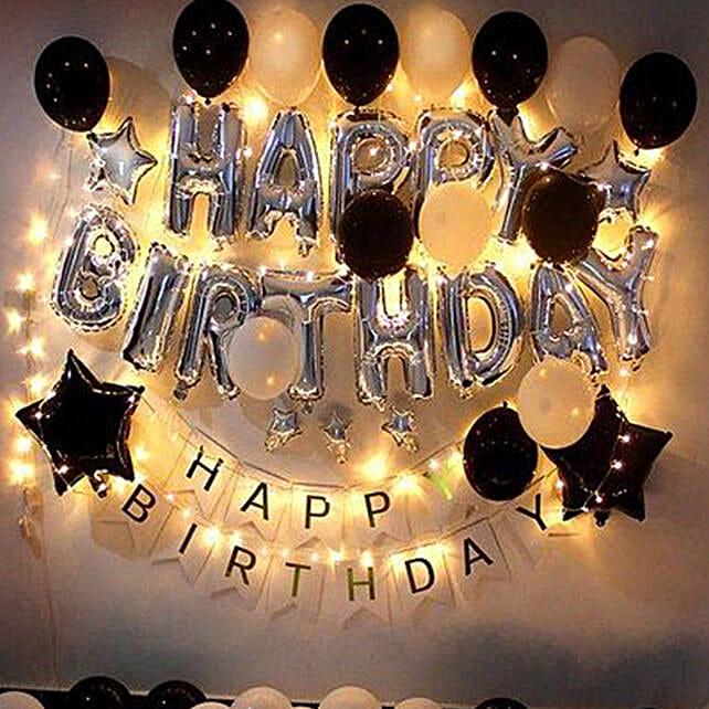 Glittery Birthday Surprise:Balloon Decorations