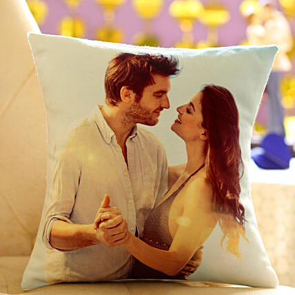Photo Cushion-12x12 personalized photo cushion for your beloved gifts:Valentines Day Gifts Srinagar
