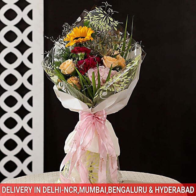 colourful flowers bouquet online
