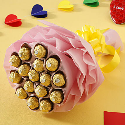 Ferrero Rocher Chocolate Bouquet chocolates womens day women day woman day women's day:Girlfriends Day Chocolates