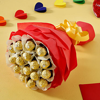 Rocher Chocolate Bouquet chocolates choclates gifts:Send Gifts for Hug Day
